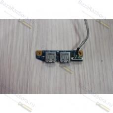 1p-1087500-6011 Плата с разьемами usb ноутбука Sony VAIO PCG-7146P